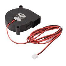 3pcs Brushless DC12V 5015 Cooling Blower Fan 2-pin for 3D Printer TE726 V3X5