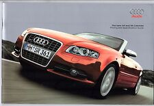 Audi A4 & S4 Convertible Cabriolet 2007-08 UK Market Sales Brochure SE S line