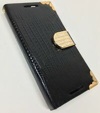 Diamond Wallet Cover For HTC 626 HPC With Screen Protector Magnetic Latch