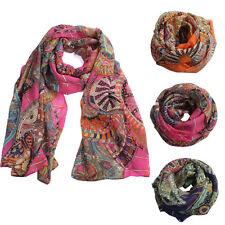 Fashion Design Women Elegant Chiffon Print Silk Long Soft Neck Wrap Shawl Scarf