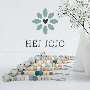 Schnullerkette Scandinavian Design aus Naturholz und Silikon von Hej Jojo