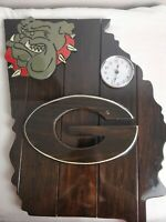 University of Georgia Handmade Wooden Clock Great For Man Cave Unique Go Dawgs!!