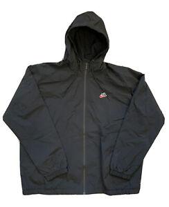 NWT Nike Sportswear Heritage Windrunner Woven Signature Jacket Black DB5171-010