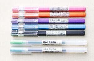 Clearance : MUJI Hexagonal Ballpoint Pen 0.25 mm 5 Colors + 2 pens