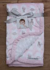 Blankets & Beyond Baby Blanket~ Ballerina Slippers~ Princess Crown~ Pink & White