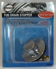"Danco 88599 Chrome Tub Drain Stopper Fits  5/8"" Or 3/8"" Screw Size Lift Turn"