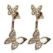 Ohrringe Schmetterling Strass Ohrstecker earrings