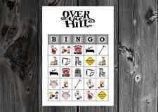 Over the Hill 40th 50th 60th Birthday Party Game Printable Bingo Cards