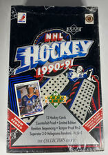 1990-91 Upper Deck English Hockey Factory Sealed Wax Box
