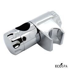 Chrome Shower Handset Holder for 25mm Riser Rails | Adjustable Double Locking