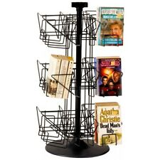 Counter Paperback Book Spinner Display Rack - 3 Tier 24 Pocket (Black)