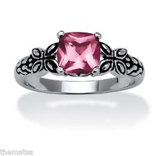 ALEXANDRITE ANTIQUED BUTTERFLY SCROLL STERLING SILVER RING SIZE 5 6 7 8 9 10