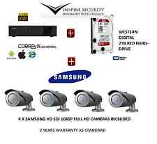 FULL 1080P HD-SDI 4 x SAMSUNG FULL HD CCTV CAMERA KIT +4 CHANNEL NETWORK DVR