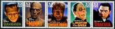 CLASSIC MOVIE MONSTERS MNH Strip of 5 Scott's 3168 to 3172 or 3172a