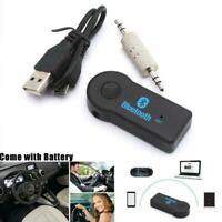 3.5mm AUX Wireless USB Mini Bluetooth Stereo Audio Adapter Receiver Car
