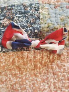 Union jack fabric handmmade hair bow