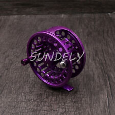 Purple Aluminum Fly Fishing Reel 5/6 Left and Right Hand Retrieve 85mm 5/6