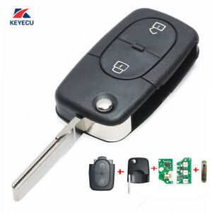 1J0 959 753 A New Flip Remote Key Fob for 1998-2000 Volkswagen Passat Golf MK4