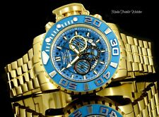 Invicta 58MM Sea Hunter GEN II Blue Dial Swiss Chronograph GoldTone Silver Watch