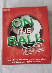 MARKS AND SPENCERS ON THE BALL EUROPEAN CHAMPIONS TRIVIA GAME COMPLETE