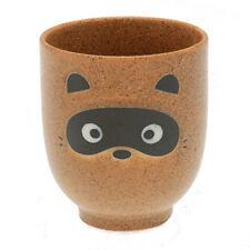 "1 PCS. Japanese 3.25""H Porcelain Yunomi Tea Cup/TANUKI Raccon Dog/Made Japan"