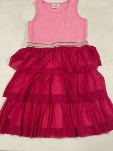HANNA ANDERSSON  PRETTY PINK   FLOATY SLEEVELESS DRESS   GIRLS   130   7   8