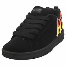 DC Shoes Court Graffik AC/DC Kids Black Orange Suede & Synthetic Skate Trainers
