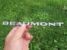 """1968 Pontiac Beaumont Grille Emblem cast # 3405843 9 1/8"""" Original"""