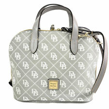 Dooney & Bourke Maxi Quilt Zip Zip Satchel Signature Canvas Bags Handbags Gray