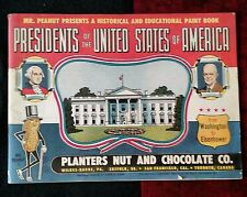 Mr Peanut Presents the Presidents of the USA Planters Joseph Fisher 1953
