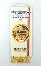 #e6413 Bunting Mistrzostwa Europy W podoszeniu ciezarow me'85 Katowice