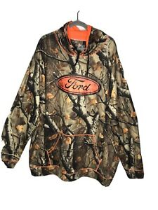 Legendary Whitetails  Hunting Hoodie Mens with Ford Logo 2XL Preowned