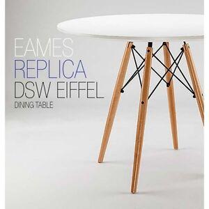 DSW Dining Table Lounge Bar Modern Designer 60-80cm Black or White Table Top