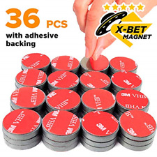 Flexible Rubber Magnets Discs 3// 4 Inch Round Magnetic Discs with Adhesive Backi