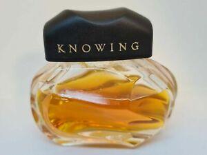 """Vintage Estée Lauder """"KNOWING"""" - Eau de Parfum 73% Splash Flacon 50 ml RARE!!"""