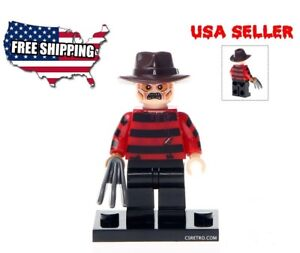 Freddy Krueger Nightmare on Elm St Horror Mini Figure Toy Building Blocks NEW