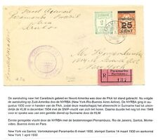 SURINAME 1930-3-8 FF COVER BRAZIL - USA --F/VF