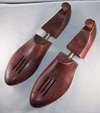 Vintage Wooden Shoe Trees size 8 B Ventilated Toe Heel Knob Contour CS Pierce Co