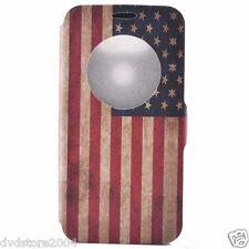 Custodia LIBRO Cover USA case Hard Back Wallet DISEGNO per LG G5 H850 5.3