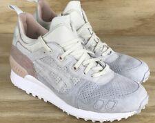 846b0d430846 Asics Gel Lyte MT Cream White Grey Pink Trail Running Shoe SZ 10.5 Suede  Leather