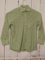Lacoste Button Down Long Sleeve Shirt Mens Size 44  Green Striped