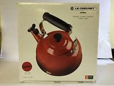 Le Creuset Enamel-on-Steel Whistling 1 4/5 Quart Teakettle, Cherry