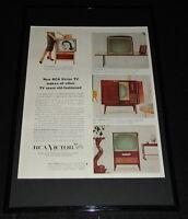 1955 RCA Victor TV Television Framed ORIGINAL 11x17 Advertising Display B