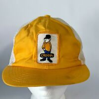 Vintage Caddy Yellow White Mesh Snapback Hat Baseball Trucker PROP GIFT