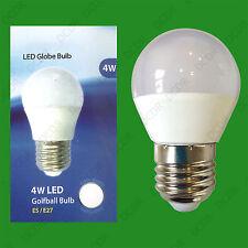8x 4W (=40W) ES E27 6500K Daylight White G45 Round Golf Ball LED Light Bulb Lamp