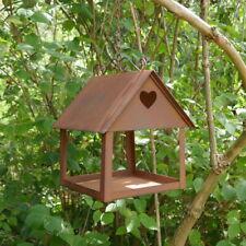Futterhaus zum Hängen mit Herz, Edelrost Vogel Fütterung Vogelfütterhaus Garten