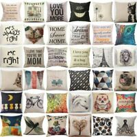 Pillow Case Car Sofa Bed Waist Throw Cushion Cover Home Decoration Cotton Linen