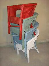 Rattan Chair New Multicoloured Chair Wicker Chairs Stackable Foursome Set Red