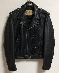 Schott Perfecto 613 One Star size 38 Mortorcycle Steerhide Leather Jacket  Ve