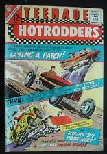old 1966 TEENAGE HOTRODDERS #17 comic Chevy Impala Ford race Polaris Nuclear Sub